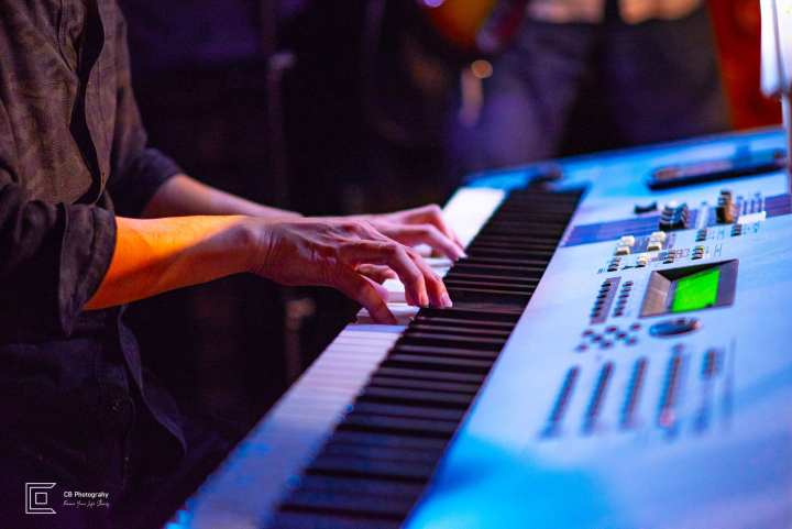 Keyboard player details photo taken during Catherine Forte debut Show