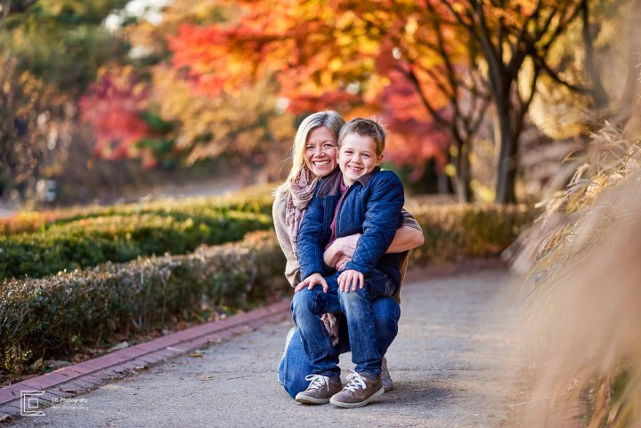 Fall family photography session-mother and son