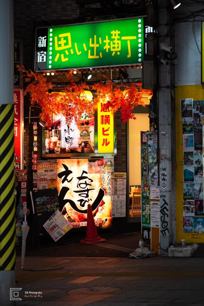 Omoide Yokocho North entry sign (Japanese only)in Shinjuku