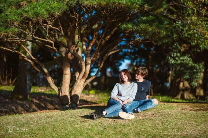 Portrait session for couples in Shinjuku Gyoen
