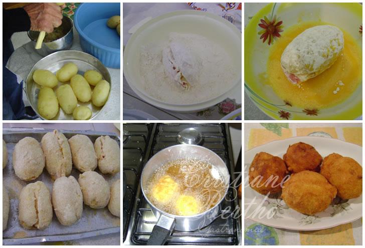 receita de batata recheada empanada e frita da vó