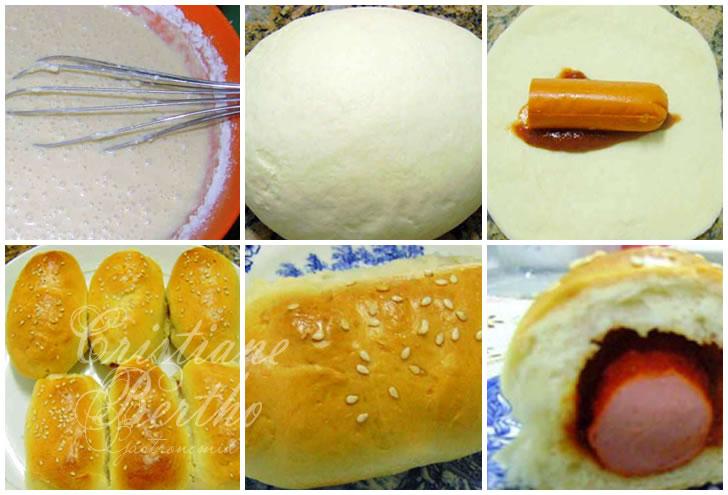 receita de pão recheado com salsicha doguinho