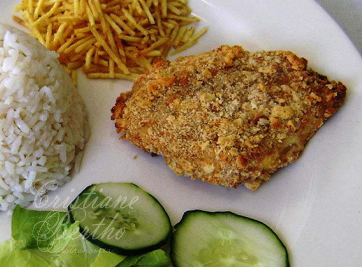receita de peixe empanado assado