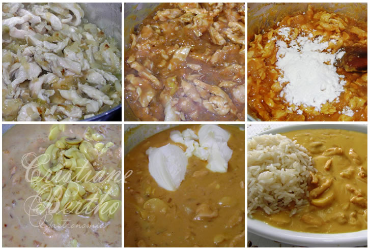 receita de strogonoff preparado com frango