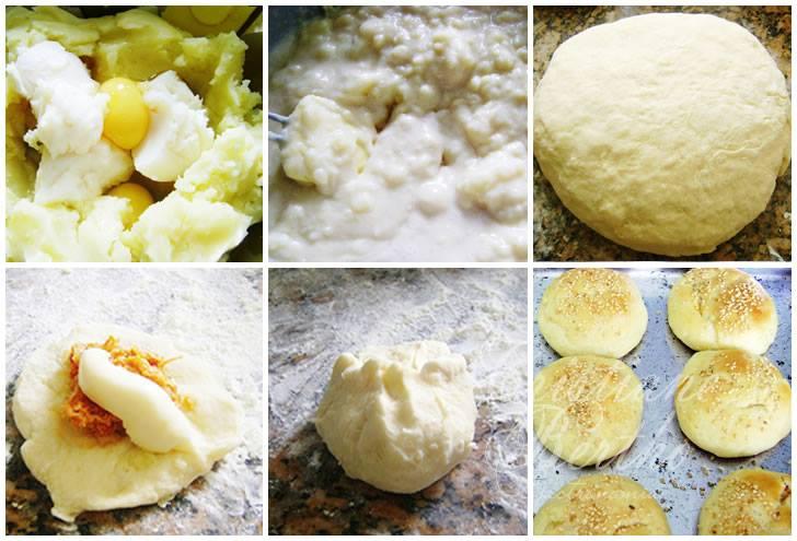 Passo a passo pão de batata
