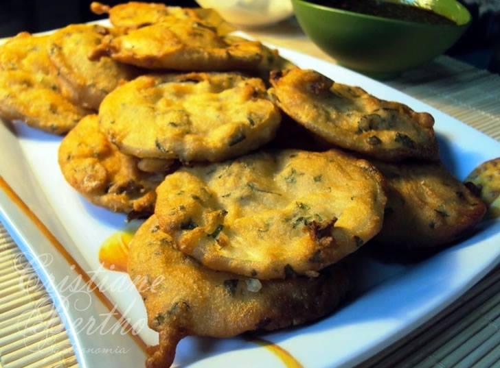 Abobrinhas empanadas com hortelã