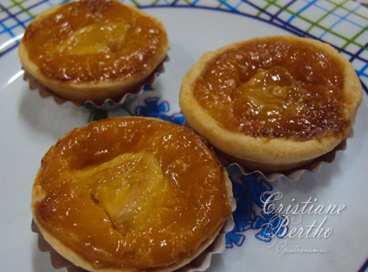 Receita de sobremesa tortinhas preparada com bananasana