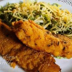 Peixe merluza crocante