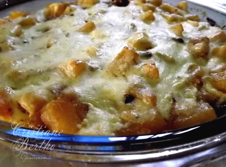 Receita de Batata doce gratinada com creeam cheese