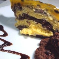 Mousse de Maracujá com Cookies