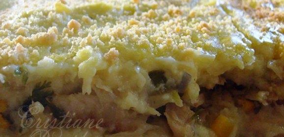 Torta cremosa de bacalhau