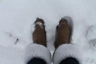 Inverno na Áustria. Botas típicas para enfrentar a neve! ;)