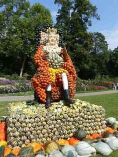 A escultura de abóbora do rei Frederick de Baden Württemberg. Viagens pelo Mundo