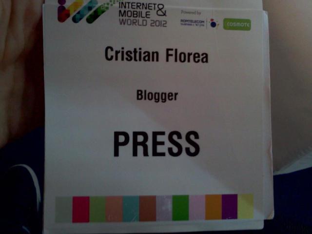 Cristian Florea - press Internet & Mobile World