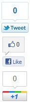 floating share buttons