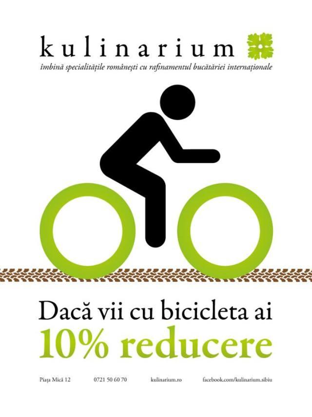 kulinarium - reducere daca vii cu bicicleta