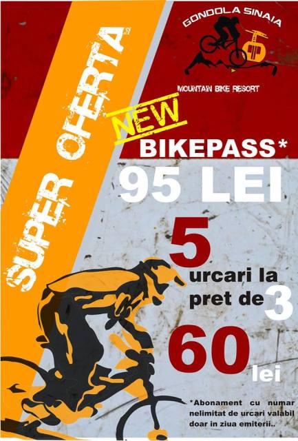 telegondola sinaia - reduceri pentru biciclisti