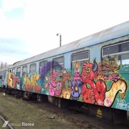trenul cu graffiti din Cluj 3