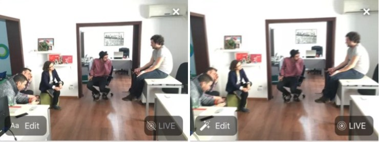 iphone live photos pe facebook