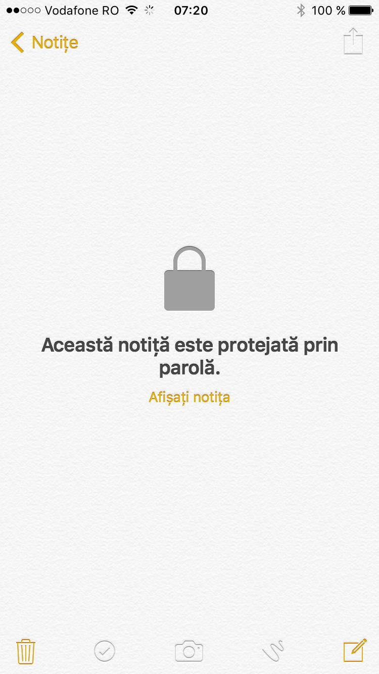 protejeaza notitele prin parola - iphone 2