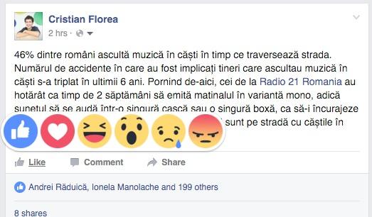 facebook - emotii