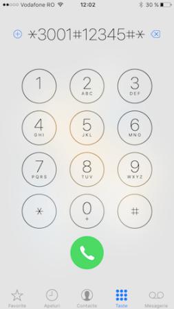 numere in loc de bilute de semnal - iphone 1