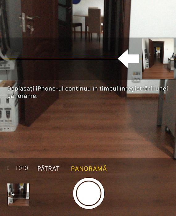 schimbare directie panorama iPhone 2
