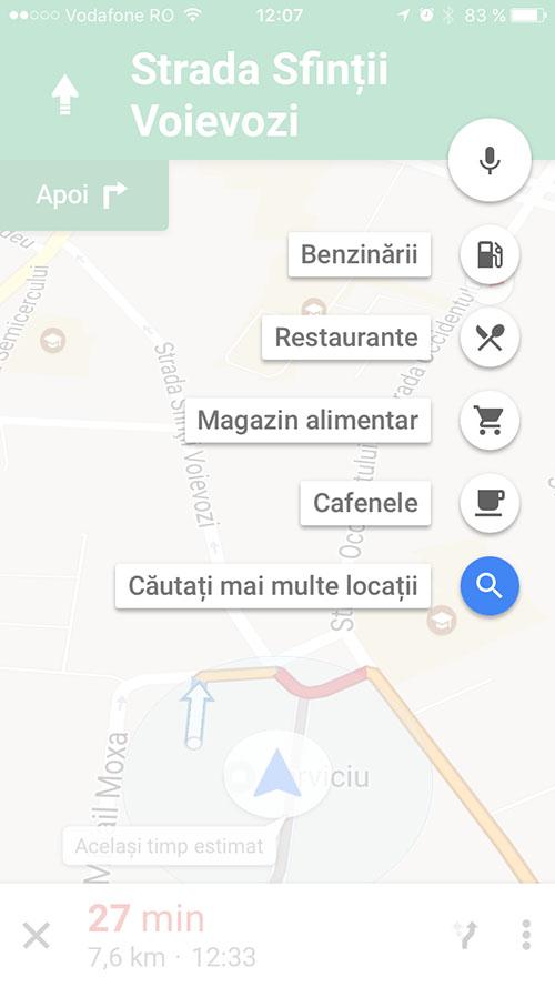 google maps pentru iPhone - pit-stop 2