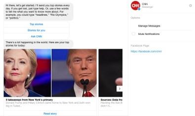 CNN top stories - facebook messenger
