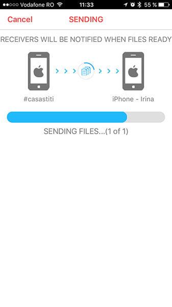 fotoswipe - transfera clipuri și fotografii de pe un smartphone