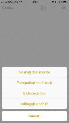 scaneaza documente iphone ios 11