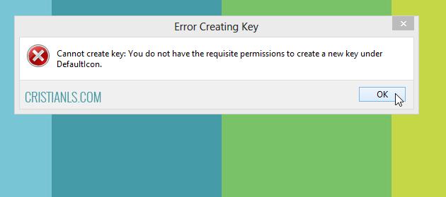 Error Creating Key