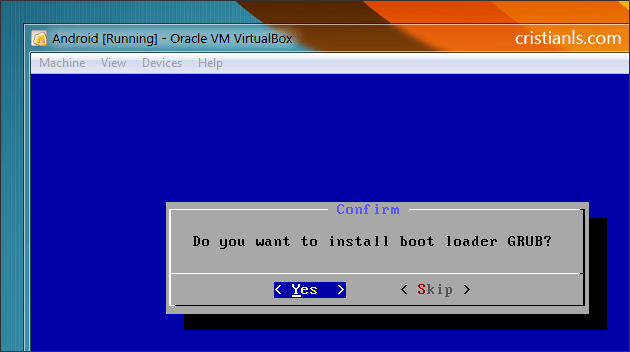 Install boot loader GRUB