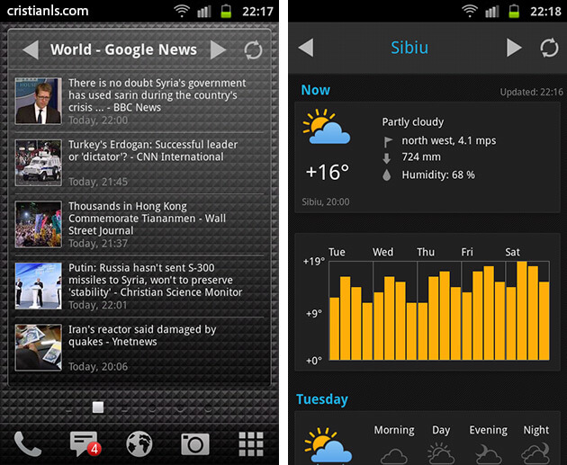 Yandex.Shell - Panels