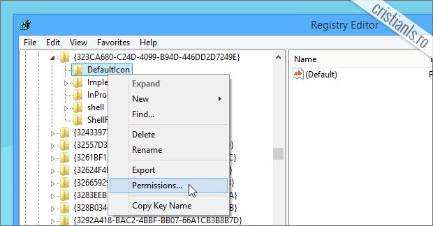 Permissions Windows Registry
