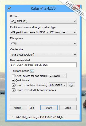 cum se creeaza un USB bootabil cu Windows 8.1