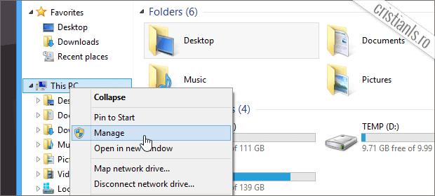 cum se schimba litera patitiei hard disk-ului in Windows 8.1