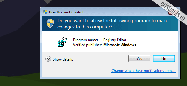 Do you want to allow the following program to make changes to this computer