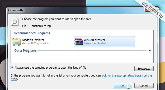 Elimina optiunea Extract All in Windows 7