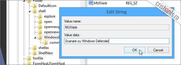 Scanare cu Windows Defender
