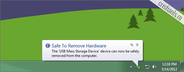 exemplu notificare Windows