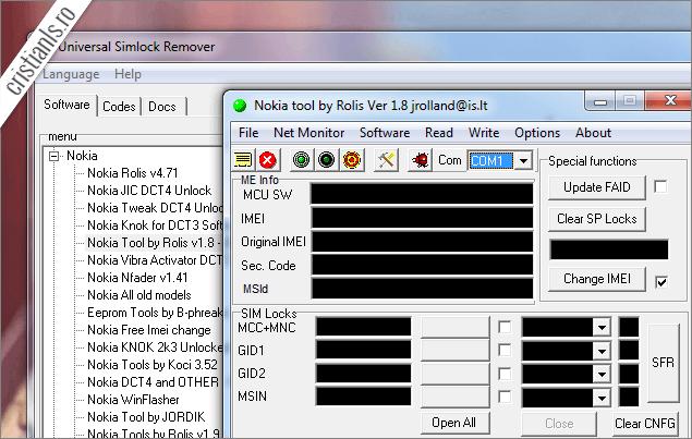 Decodare telefon nokia cu Nokia tool by Rolis