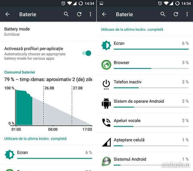 CyanogenMod 12.1 - baterie