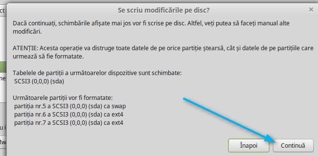 se scriu modificarile pe disk