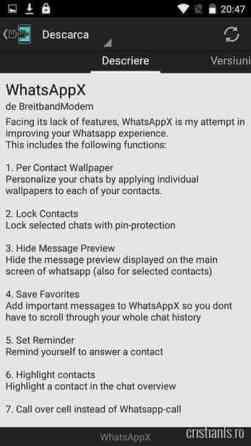 WhatsAppX - descriere