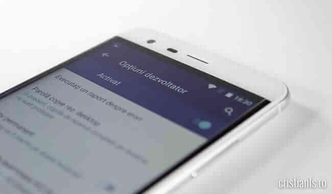 Optiuni dezvoltator in Android