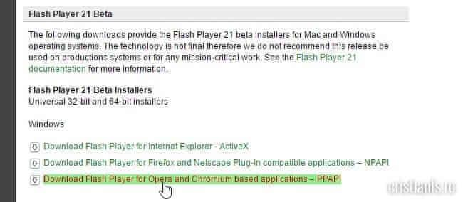 Flash Player Beta