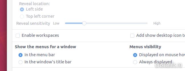 locatia meniurilor ubuntu