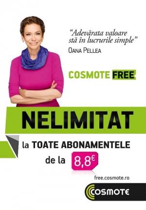 COSMOTE devine FREE şi oferă 'nelimitat' la postpaid