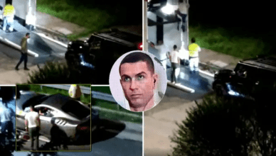 Video Footage Films Cristiano Ronaldo Moving His 7 Super Cars Out Of His Turin Garage